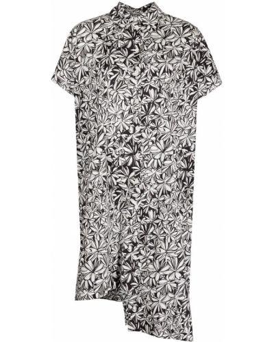 Хлопковое платье миди - черное Rosetta Getty
