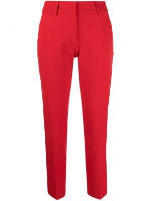 Хлопковые красные зауженные брюки Piazza Sempione