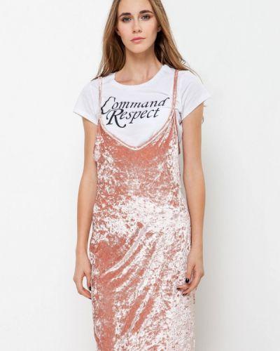 Платье осеннее розовое Escena