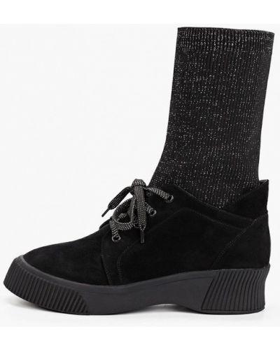 Велюровые черные ботинки Ridlstep