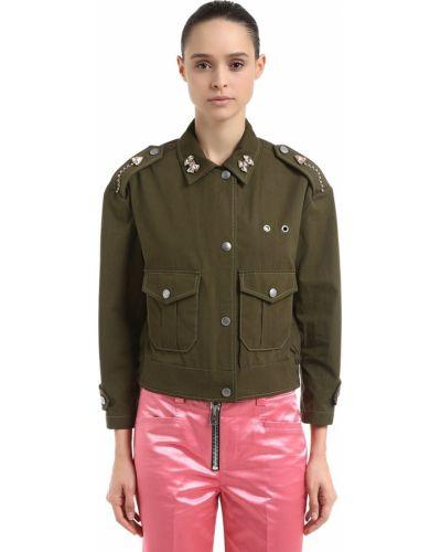 Куртка милитари - зеленая Coach