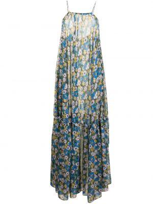 Открытое синее платье макси с открытой спиной Bambah