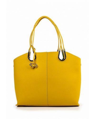 Желтая кожаный сумка Labbra