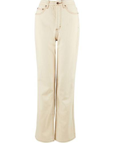 С завышенной талией бежевые джинсы с высокой посадкой Befree