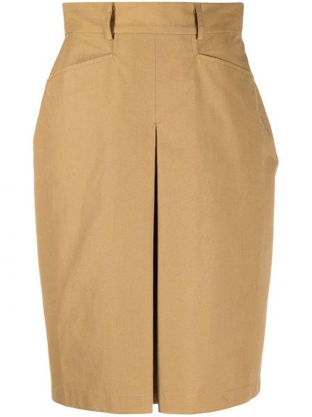 Прямая юбка миди с разрезом с поясом Massimo Alba