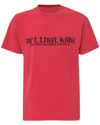 Czerwony t-shirt Gallery Dept.