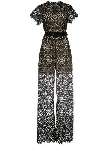 Черное прямое платье мини прозрачное с вырезом Jonathan Simkhai
