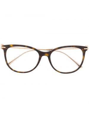 Золотистые коричневые очки кошачий глаз металлические Jimmy Choo Eyewear