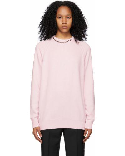 Z kaszmiru sweter - różowy Givenchy