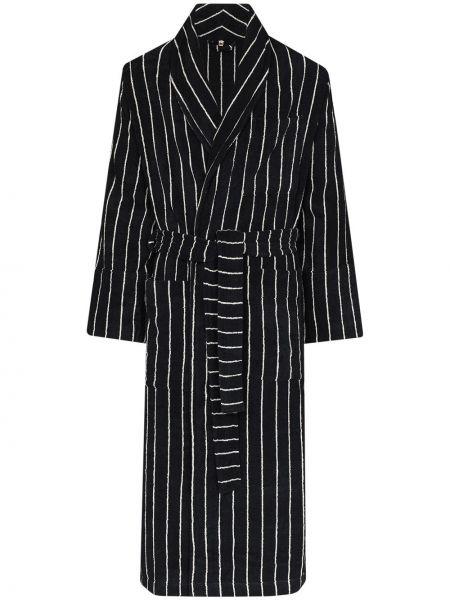 Czarny szlafrok bawełniany Tekla Fabrics