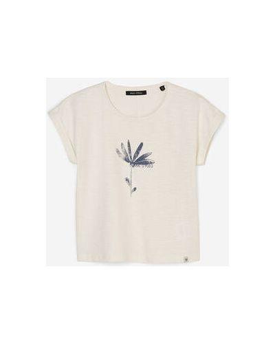 Biały t-shirt bawełniany Marc O Polo