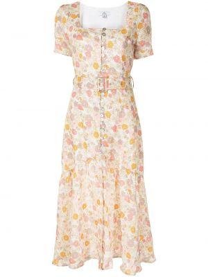 Расклешенное платье миди с короткими рукавами квадратное We Are Kindred