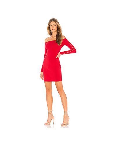 Облегающее платье на молнии красный By The Way.
