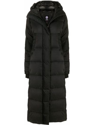 Черное пальто классическое с капюшоном для полных Canada Goose