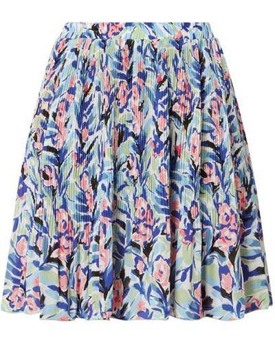 Niebieska spódnica mini rozkloszowana Only