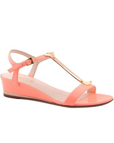 Оранжевые босоножки на каблуке Loriblu