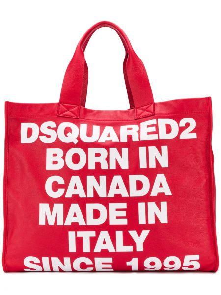 Skórzana torebka duży na ramię Dsquared2