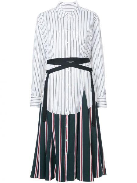 Классическое ажурное платье макси с длинными рукавами на шнуровке Tome