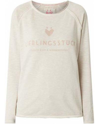 Bluza z nadrukiem z printem - beżowa Lieblingsstück