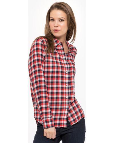 Czerwona koszula bawełniana z długimi rękawami Wrangler