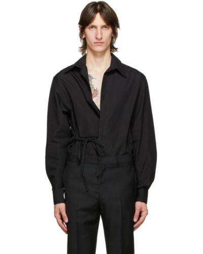 Bawełna czarny koszula z kołnierzem z mankietami Givenchy