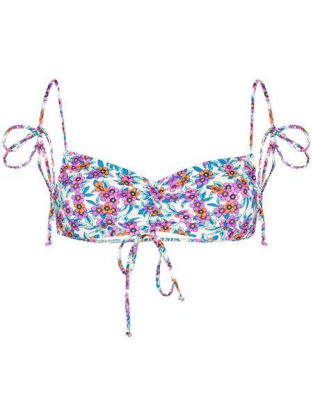 С ремешком белый топ в цветочный принт Frankie's Bikinis