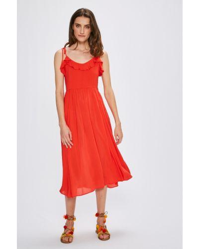 Платье миди на пуговицах с оборками Vero Moda