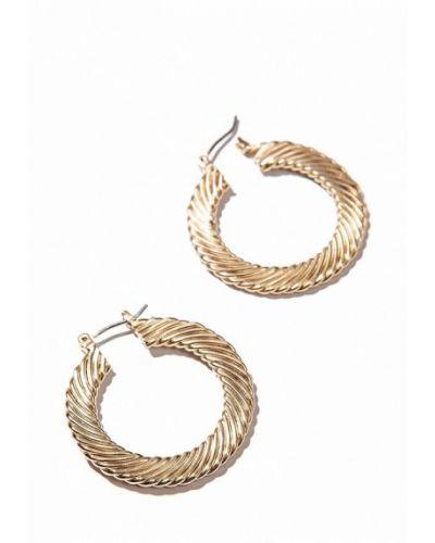 Серьги-кольца золотого цвета Exclaim