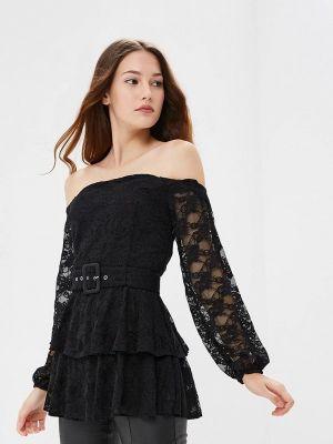 Блузка кружевная черная Lost Ink.