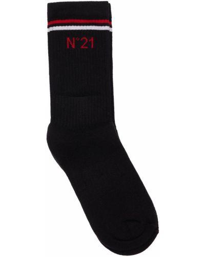 Черные хлопковые носки N°21