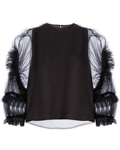 Czarna bluzka tiulowa Noir Kei Ninomiya