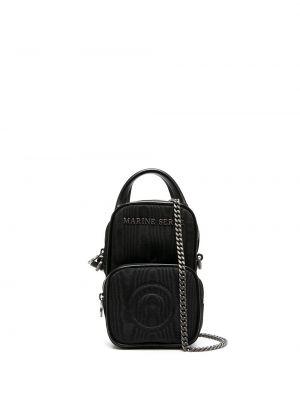 Кожаная сумка - черная Marine Serre