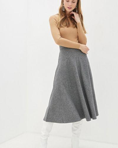 Серая юбка полусолнце из вискозы на молнии Baon