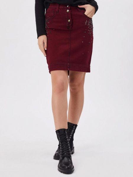 Джинсовая юбка - красная D'she
