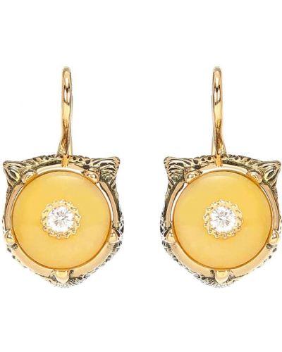 Серьги-гвоздики серьги-кольца золотые Gucci