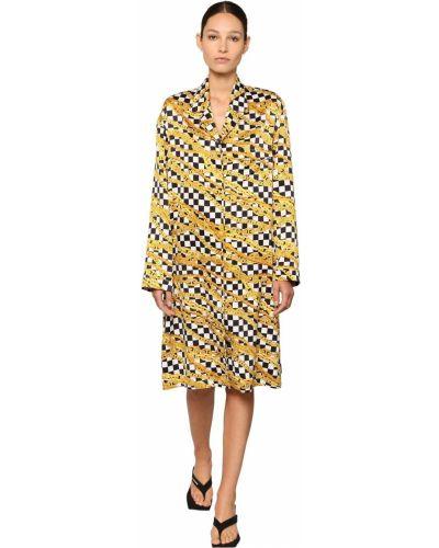 Платье миди макси на пуговицах Balenciaga