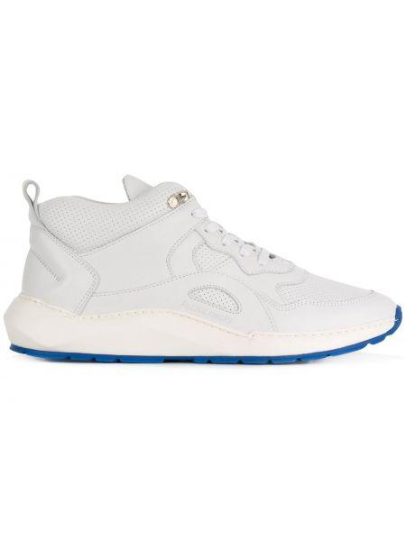Skórzane sneakersy białe Filling Pieces