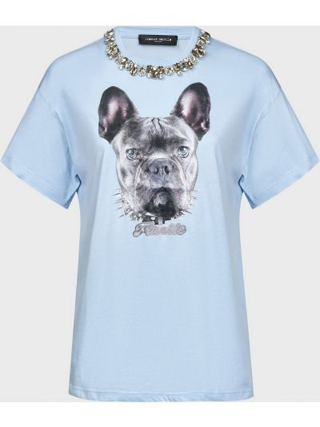 Хлопковая футболка Frankie Morello