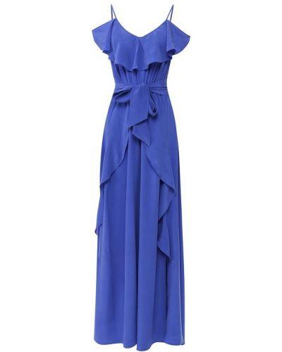 Вечернее платье макси с поясом Lazul