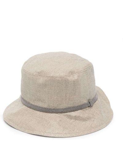 Beżowy kapelusz Brunello Cucinelli Kids