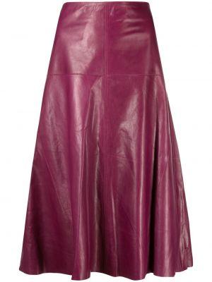 Расклешенная с завышенной талией кожаная юбка Arma