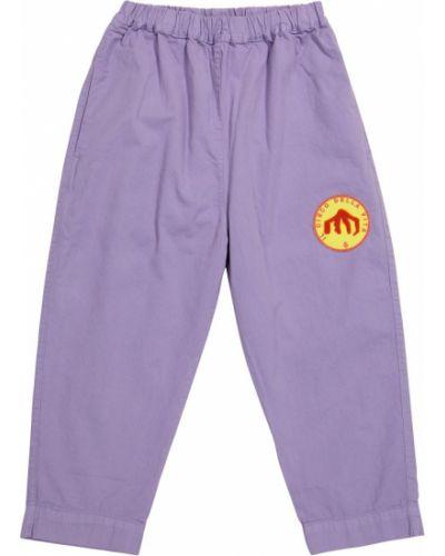 Fioletowe spodnie bawełniane The Animals Observatory