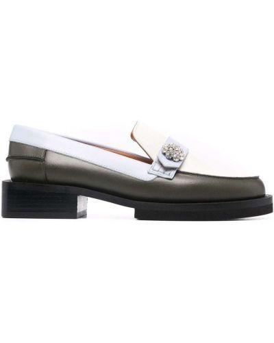 Loafers na obcasie - białe Ganni