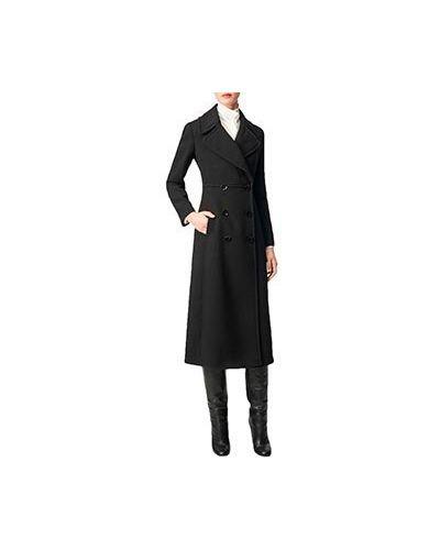 Повседневное черное пальто Luisa Spagnoli