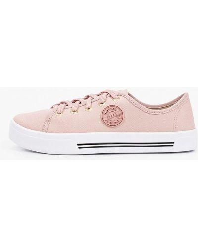Текстильные розовые низкие кеды Moleca