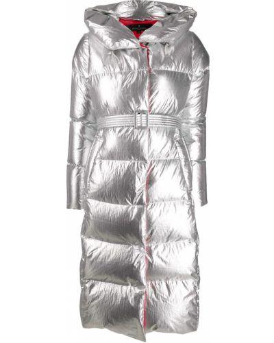 Пальто с капюшоном длинное с поясом Nicole Benisti