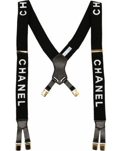 Szelki skorzane - białe Chanel Pre-owned