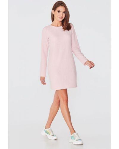 Розовое платье до колена Nenka