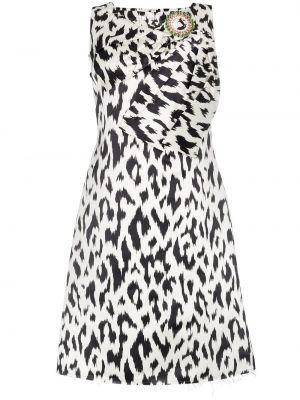Czarna sukienka midi z jedwabiu bez rękawów Calvin Klein 205w39nyc