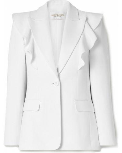Белый пиджак с карманами на пуговицах Michael Kors Collection